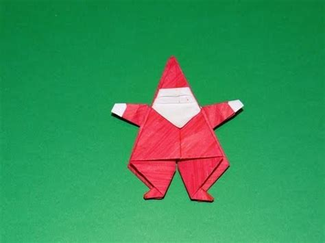 How To Make An Origami Santa Claus - how to make an origami santa claus