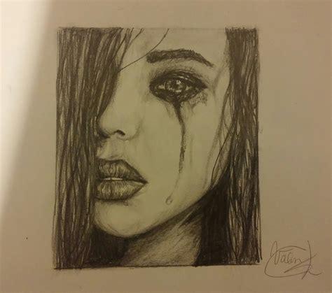 imagenes de una xica llorando speed art mujer llorando a lapiz youtube