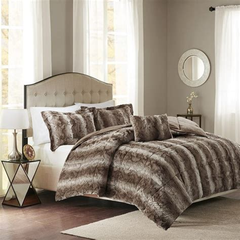 faux fur bedding set zuri faux fur by madison park beddingsuperstore com