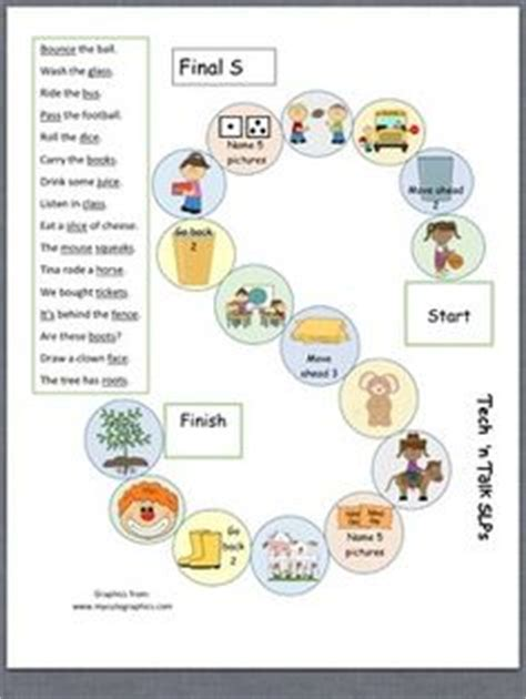 printable articulation board games speech therapy articulation practice pack for l blends