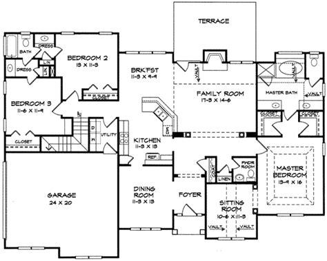 split bedroom ranch with bonus 3653dk 1st floor master elegant ranch home for a corner lot 3623dk 1st floor
