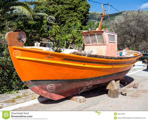 wooden fishing boat painting stock photo image 53515646 - Boat Paint Wood