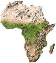 Topographical Map Of Africa maps of africa with links to african countries and tourist