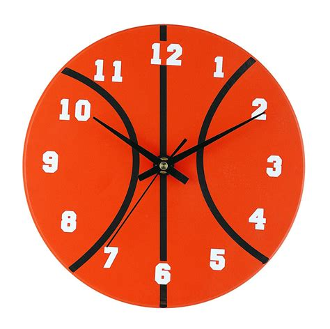 Home Decor Bedding Basketball Clock Interiordecorating