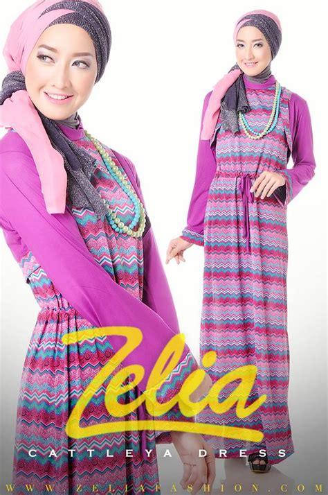 Kaos Muslimah Zahra Lengan Motif cattleya ungu baju muslim gamis modern