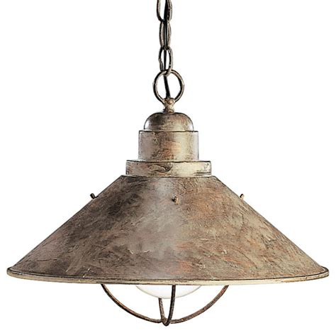 rustic pendant pendant lighting by fredeco lighting kichler lighting seaside 1 light outdoor hanging pendant