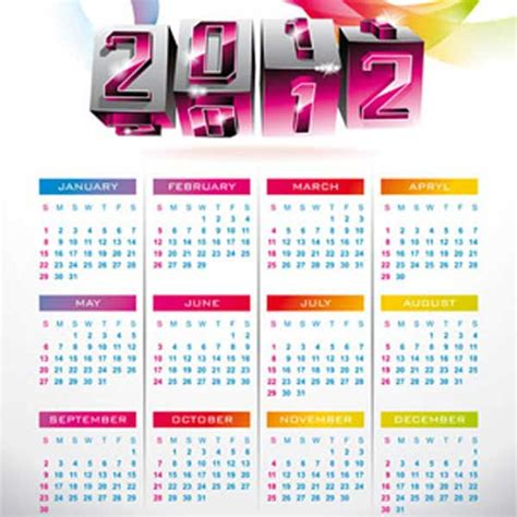 templates free 2012 2012 calendar design templates