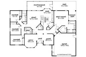 Mediterranean House Floor Plans by Mediterranean House Plans Bryant 11 024 Associated Designs