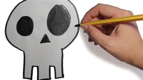 imagenes de una calavera sentada como dibujar una calavera facil para halloween paso a