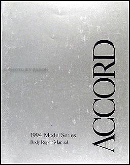 1994 honda accord coupe wagon service manual supplement original 1994 honda accord 4 door sedan owner s manual original