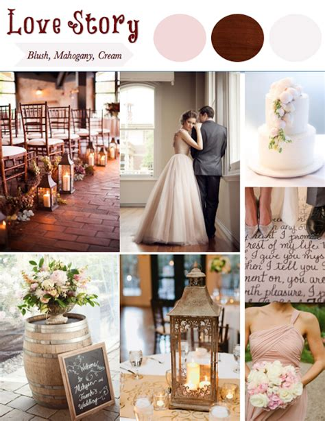 themes about love stories love story wedding theme blush mahogany cream