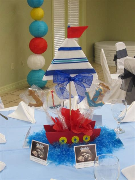 sailor themed centerpieces sailor baby shower baby shower ideas photo 3 of 9