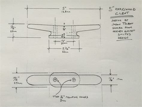 making wooden cleats - Boat Cleat Drawing