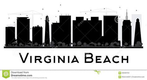 design elements virginia beach virginia beach city skyline black and white silhouette