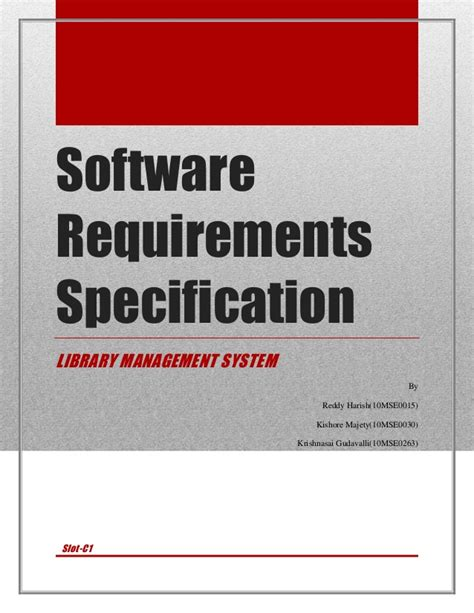 software requirement software requirements specification