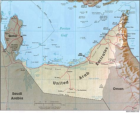 map of the united arab emirates reisenett united arab emirates maps