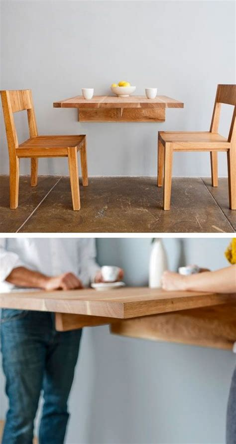 wall mounted dining table great  small spaces