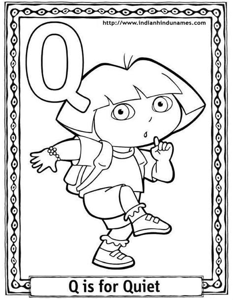 coloring pages for q alphabets coloring sheets coloring pages