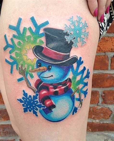 snowman tattoo 45 inspiring winter designs ideas entertainmentmesh