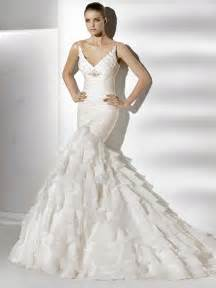 mermaid wedding gowns with straps for elegant bridal look