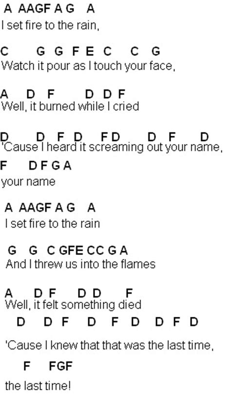 Set Fire To The Rain Guitar Chords