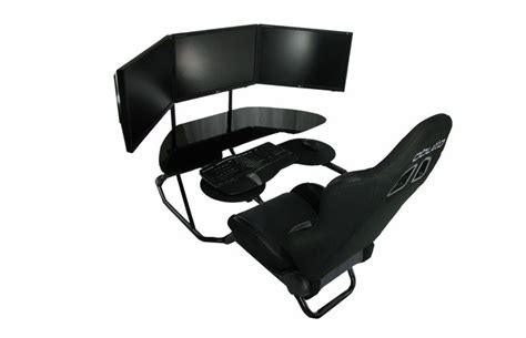 3 monitor chair ideal monitor setup however a leather recliner would a addition for keaton