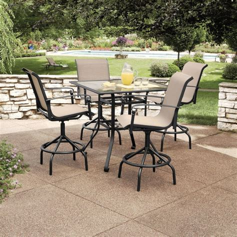 Sears Patio Tables Garden Oasis Lake 5 Pc Bar Bistro Set Bars Dining Patio Furniture