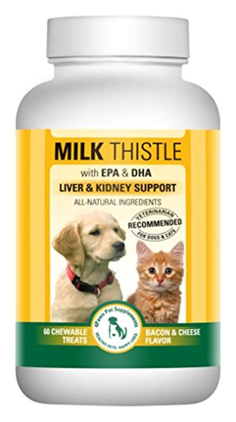 is milk bad for dogs milk thistle liver kidney supplement for dogs and cats with dha epa silymarin and