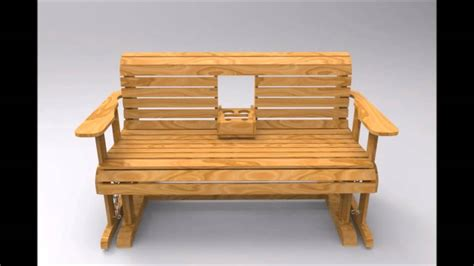 Home Decor Pictures For Sale Furniture White Oak Glider Bench With Cup Holder For