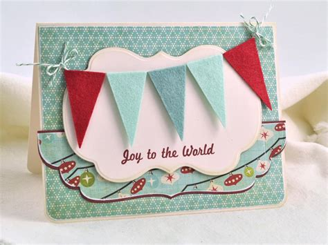 Handmade Banners - handmade card with colorful felt pennants hgtv