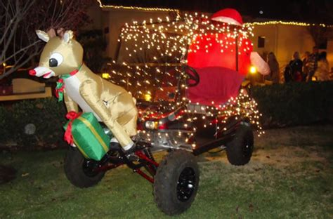 golf carts decerated for christnas season golf cart news
