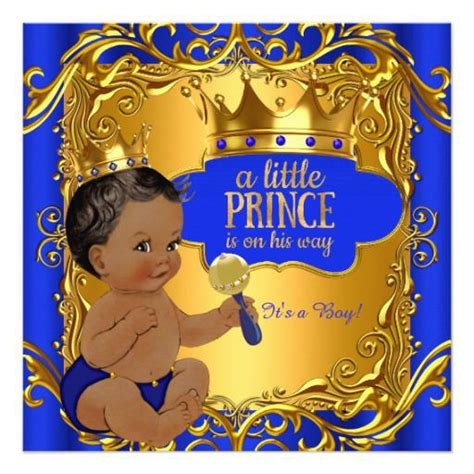prince ethnic background prince baby shower invitations