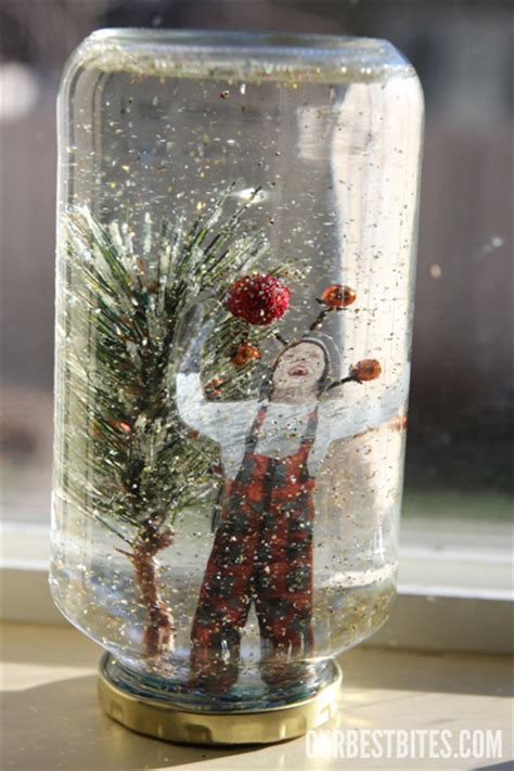 Handmade Snow Globes - how to make a snow globe lucille zimmerman