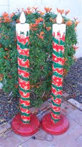 vintage christmas metal candolier pair large tall electric