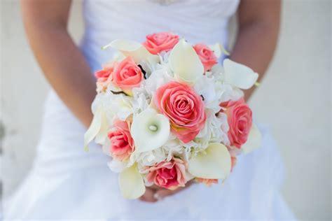 calla wedding bouquet coral calla wedding bouquet in bloom