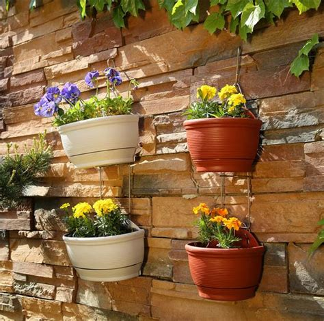 home decor pots 0007 double pottery style wall hanging planter pot home