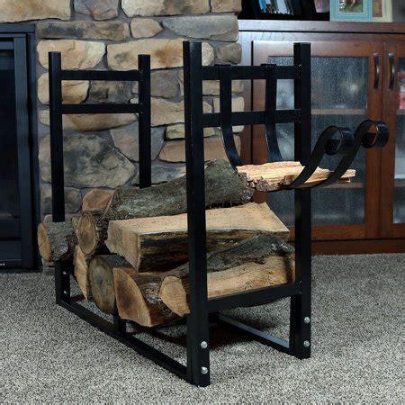 sunnydaze indoor outdoor firewood log rack with kindling