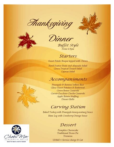 celebrate thanksgiving at chabil mar in placencia belize