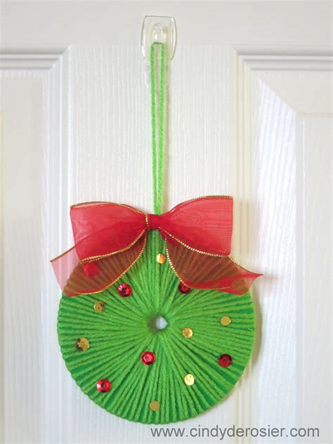 Papercraft Ornaments - cd wreath family crafts