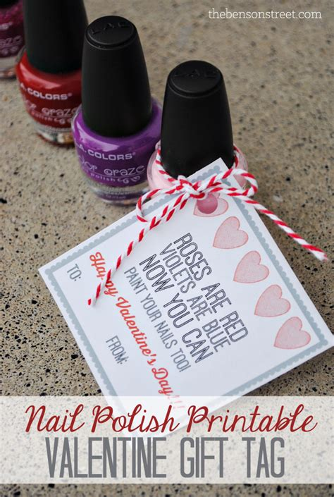 printable nail polish gift tags nail polish valentine gift tag amy latta creations