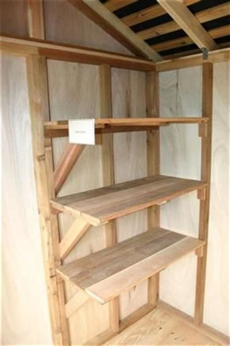 25 best ideas about shed shelving on garage
