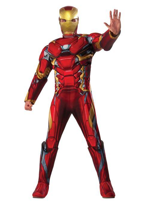 mens deluxe civil war iron man costume