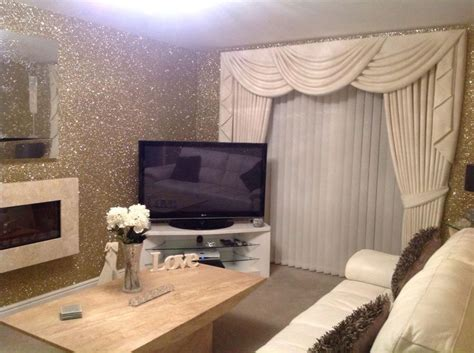 glitter wallpaper in living room precious metal gold glitter wallcovering from www