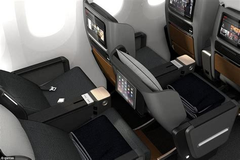 airline seats recline qantas unveils new premium economy seats daily mail online
