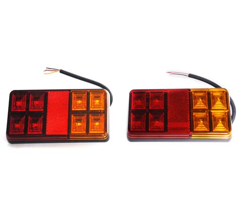 led trailer lights rectangle