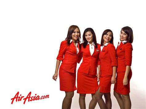 airasia uniform airasia flight attendants group adv world stewardess crews