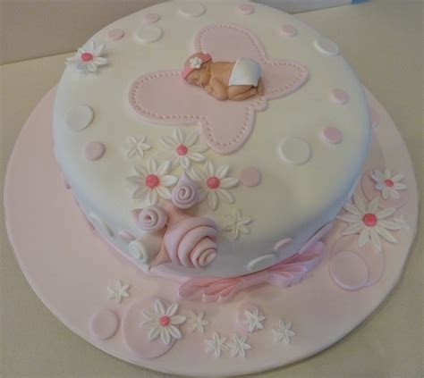 Simple Baby Shower Cakes by Cake It Easy Pink Baby Shower Cake