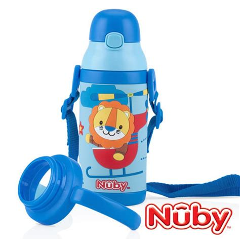 Sale Nuby Click It Insulated Stainless Steel Straw Bottle 280ml nuby toddler sipeez insulated stainless steel flip it straw bottle 385ml blue babyonline