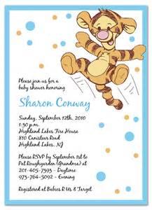 baby tigger baby shower invitations