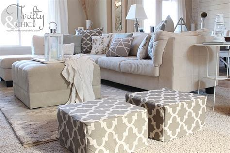 living room poufs thrifty and chic diy projects and home decor